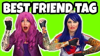 Best Friend Tag Challenge. Descendants Mal vs Evie Real or Fake? Totally TV
