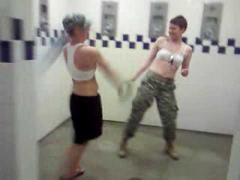 Video bathroom under stall ass