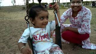 Dhanush is swinging 1st time alone at 11months#luv u baby