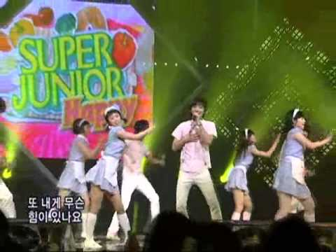 Superjuiorhappy - Cook-King @SBS Inkigayo 인기가요 20080713