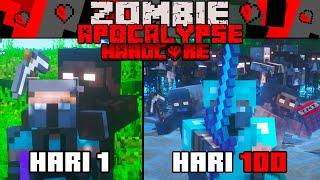 100 Hari Di Minecraft Hardcore Zombie Apocalypse Tapi Zombie-nya Bar-Bar