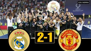 Real Madrid vs Manchester United - UHD 4K Super Cup 2017 - Full Highligths