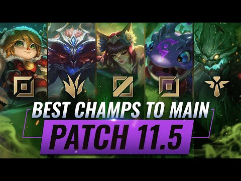 3 BEST Champions To MAIN For EVERY ROLE in Patch 11.5 - League of Legends