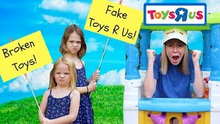 Pretend Toy Store Kid's Video Starring Addy and Maya !!!