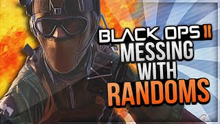 Black Ops 2 Messing with Randoms #22! (Mad SoaR Fan Girl, Joined Red, Crazy Sniper Killcams)