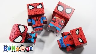 Gấp người nhện bằng giấy ~ Đồ chơi trẻ em ~ Make a PaperCraft Spiderman