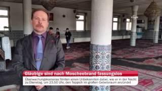 Gläubige sind nach Moscheebrand fassungslos