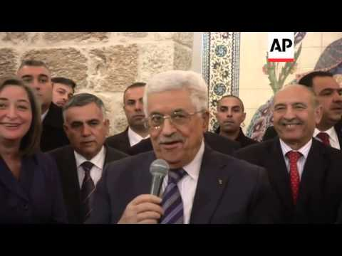 Palestinian President arrives in Bethlehem, wishes everyone a Merry Christmas
