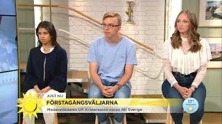 Förstagångsväljarna frågade ut M-ledaren Ulf Kristersson - Nyhetsmorgon (TV4)