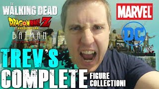 Trev's Complete Figure Collection Special! - Walking Dead, DBZ, Marvel, DC, TMNT, & WWE!