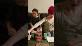 Girls taste test and review a new poptart.