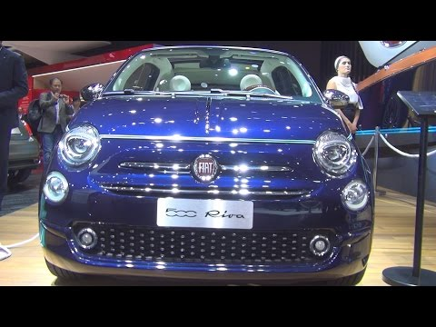 #FIAT500 Fiat 500 Convertibile Riva Tender to Paris 1.2 8V 69 hp E6 (2017) Exterior and Interior in 3D