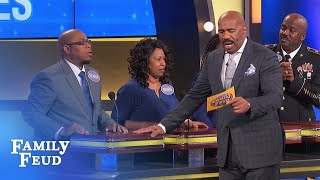 Yikes! Orlando gets right to the bottom of it! | Family Feud