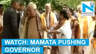 Mamata Banerjee pushes Governor away from PM Modi..