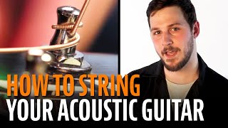 Watch the Trade Secrets Video, How to String an Acoustic Guitar