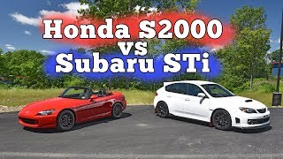 Honda S2000 vs Subaru STi: Regular Car Reviews