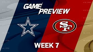 Dallas Cowboys vs. San Francisco 49ers | Week 7 Game Preview | NFL Playbook