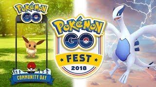 ¡EEVEE PRÓXIMO COMMUNITY DAY, VUELVE LUGIA y OS ENSEÑO el parque del Pokémon GO Fest! [Keibron]