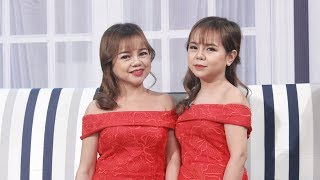 Hai chị em búp bê xinh không dám mặc áo ngực vì sợ lộ tuổi bị trêu chọc 😥