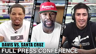 GERVONTA DAVIS VS LEO SANTA CRUZ - FULL PRESS CONFERENCE VIDEO WITH FLOYD MAYWEATHER JR