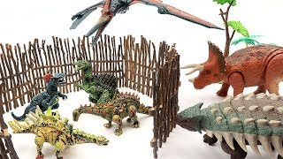 NEW DINOSAUR PUZZLE With Jurassic World 2! Lego Dinosaur for kids~ T-Rex, Triceratops Toys  in Fence