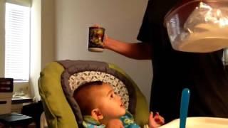 Baby Headbanging to Iron Maiden (24 weeks)