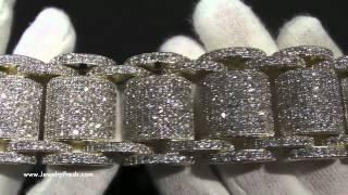 Jumbo Gold High End Simulated Diamond Bossman Bling Bracelet - Hip Hop Jewelry - JewelryFresh