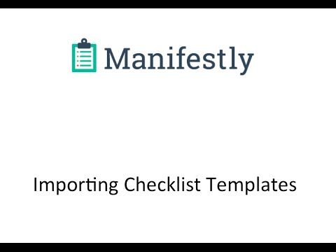 Importing a Checklist Template