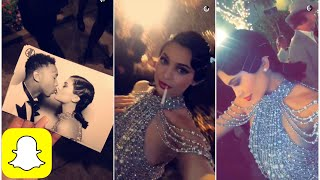 Kylie Jenner at Kris' Gatsby themed birthday party on Snapchat