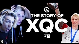 xQc Reacts to The Story Of xQc by theScore esports