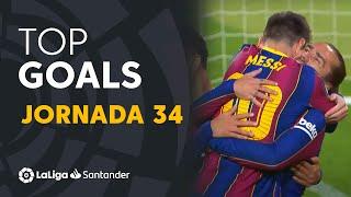 Todos los goles de la jornada 34 de LaLiga Santander 2020/2021