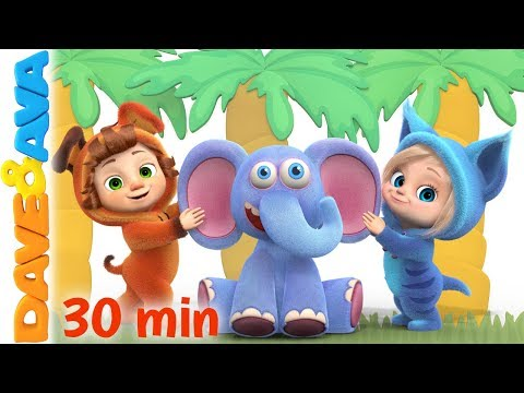 😘 Down in the Jungle   Nursery Rhymes and Kids Songs   Baby Songs from Dave and Ava 😘