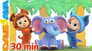 🏝 😘 Down in the Jungle | Nursery Rhymes and Kids Songs | Baby Songs from Dave and Ava 😘