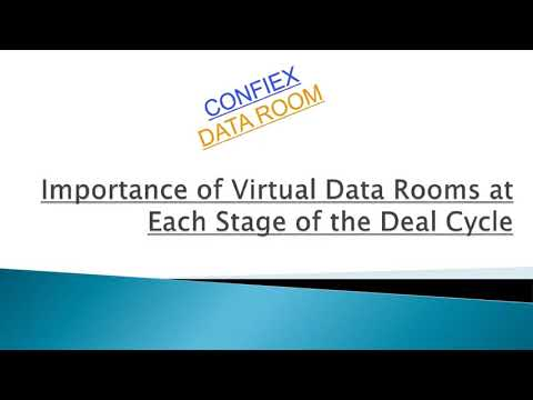 Importance of Virtual Data Rooms at Each Stage of the Deal Cycle