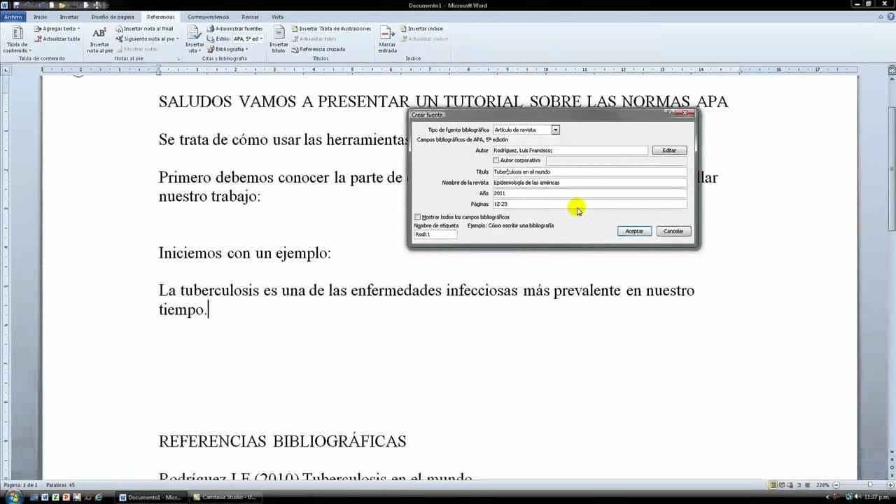 las referencias bibliograficas