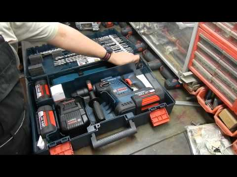 Bosch GBH36VFLI PLUS 36v Sds Rotary Hammer Drill 2 x 4.0amp batteries in case
