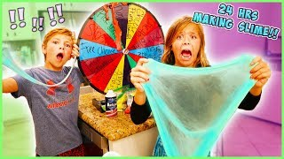WE MADE SLIME FOR 24 HOURS!!!