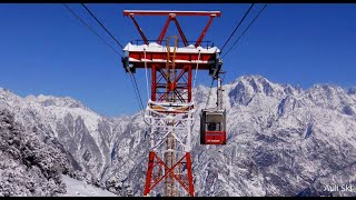 Heavy snow: Full Ropeway ride Auli - Joshimath record Snow in February.