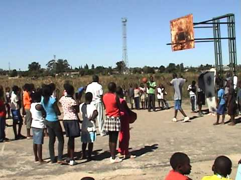 Africa Outreach USA Foundation - 2012 Glen Norah Basketball Camp Passing Contest.MPG
