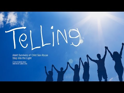 You're invited to the Seattle production of Telling. Playing March 31-April 2, 2017, the play features seven courageous adult survivors of child sexual abuse who step into the light and reveal their secrets to the audience. Written by Margie Boule and directed by Jamie M. Rea, these often untold stories will evoke powerful emotions, negative and positive, and have you leaving the theater feeling hopeful, joyous, and excited, this is the play to see.