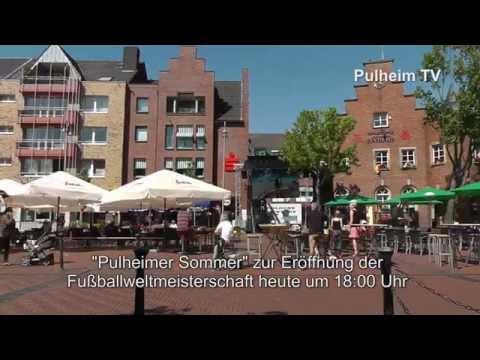 Public viewing auf dem Pulheimer Marktplatz