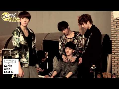 [EXOTICSUBS] 120502 AR Show with Genie Making Film - EXO-K {ENG SUB}