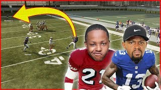 CRAZIEST No Look Pass Ever! Odell Beckham Jr vs Deion Sanders! - User Skills Challenge