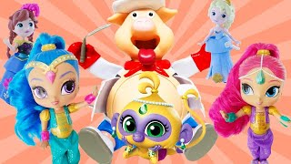 Disney Frozen & Shimmer and Shine Pop the Pig Game for a Surprise! Learn Colors w/ Elsa and Anna