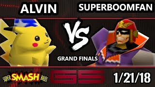 GENESIS 5 Smash 64 - PG | SuPeRbOoMfAn (Captain Falcon) VS Alvin (Pikachu) - Super Smash Bros. GF