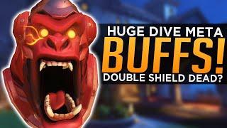 Overwatch: HUGE Dive Meta BUFFS! - Is Double Barrier DEAD?