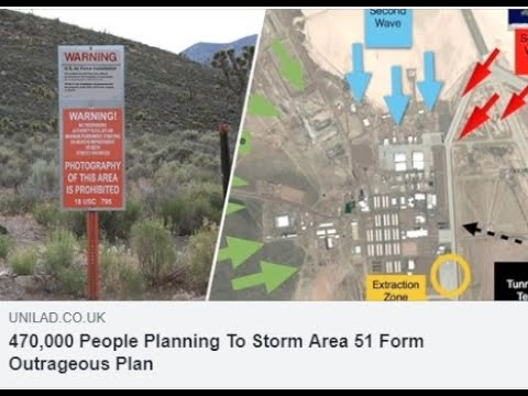 Official: 470,000 Set to Storm Area 51 Armed With Drones!