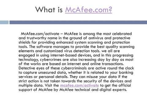 How McAfee helps in securing your data and devices?
