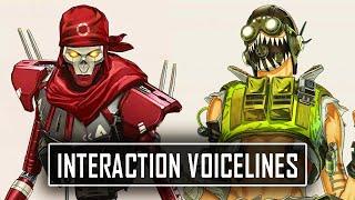 *ALL* NEW LEGEND Interaction Voicelines in Apex Legends Season 10