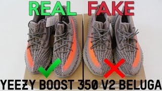 YEEZY BOOST 350 V2 BELUGA Real Vs. Fake (LEGIT CHECK)